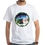 Santa's Take Off (2) = 2 Scotties White T-Shirt