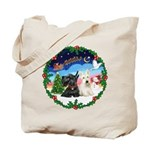 Santa's Take Off (2) = 2 Scotties Tote Bag