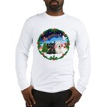 Santa's Take Off (2) = 2 Scotties Long Sleeve T-Sh