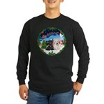Santa's Take Off (2) = 2 Scotties Long Sleeve Dark