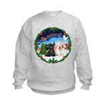 Santa's Take Off (2) = 2 Scotties Kids Sweatshirt