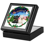 Santa's Take Off (2) = 2 Scotties Keepsake Box