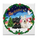 Santa's Take Off (2) = 2 Scotties Tile Coaster
