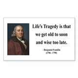 Benjamin Franklin 11 Rectangle Decal