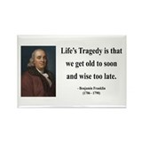 Benjamin Franklin 11 Rectangle Magnet (10 pack)