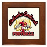 Cardinal Football Framed Tile