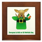 Everyone Is Irish Framed Tile