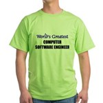 Worlds Greatest COMPUTER SOFTWARE ENGINEER Green T
