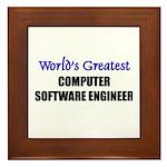 Worlds Greatest COMPUTER SOFTWARE ENGINEER Framed