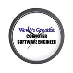 Worlds Greatest COMPUTER SOFTWARE ENGINEER Wall Cl