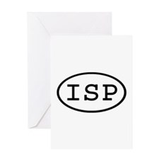 ISP Oval Greeting Card