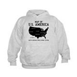 south carolina map of U.S. America Hoody