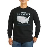 south carolina map of U.S. America T