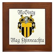 McGinty in Irish & English Framed Tile