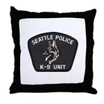 Seattle Police K-9 Unit Throw Pillow