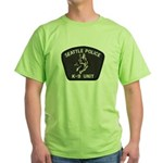 Seattle Police K-9 Unit Green T-Shirt