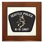 Seattle Police K-9 Unit Framed Tile