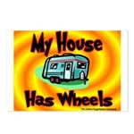 My House Has Wheels Postcards (Package of 8)