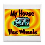 My House Has Wheels Tile Coaster