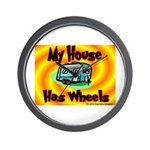 My House Has Wheels Wall Clock