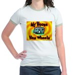 My House Has Wheels Jr. Ringer T-shirt