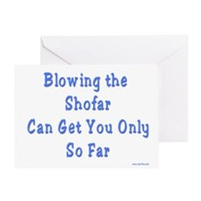 Blowing the Shofar Greeting Card