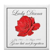 Lady Diana - Rose Tribute Tile Coaster