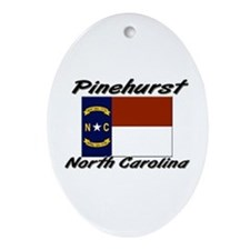 Pinehurst North Carolina Oval Ornament