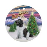 Santa's Take Off (1) &amp; Landseer Ornament (Round)