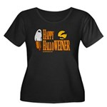 Happy HalloWEINER Women's Plus Size Scoop Neck Dar