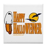 Happy HalloWEINER Tile Coaster