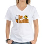 Happy HalloWEINER Women's V-Neck T-Shirt