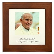 Pope John Paul II - Memorial Framed Tile