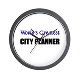 Worlds Greatest CITY PLANNER Wall Clock
