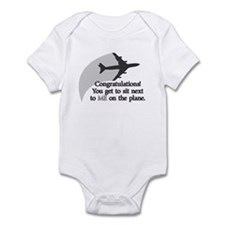 Airplane Ride Funny Baby Bodysuit