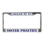 Soccer Practice License Plate Frame