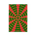 Holiday Pattern 001 Rectangle Magnet (100 pack)