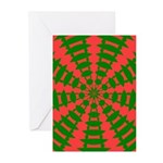 Holiday Pattern 001 Greeting Cards (Pk of 10)