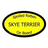 Spoiled Skye Terrier On Board Oval Decal