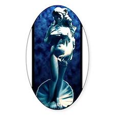 Blue Venus Oval Decal