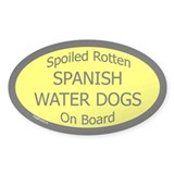 Spoiled Spanish Water Dogs On Board Oval Decal
