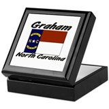 Graham North Carolina Keepsake Box