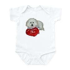 Cute Dad valentine Infant Bodysuit
