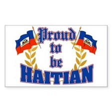 Proud to be Haitian Rectangle Decal