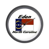 Eden North Carolina Wall Clock
