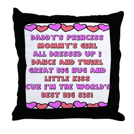 Best Big Sis Throw Pillow