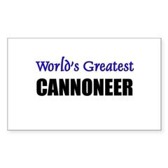 Worlds Greatest CANNONEER Rectangle Sticker