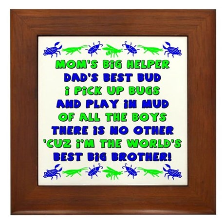 Best Big Brother Framed Tile