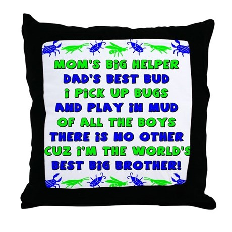 Best Big Brother Throw Pillow