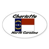 Charlotte North Carolina Oval Decal